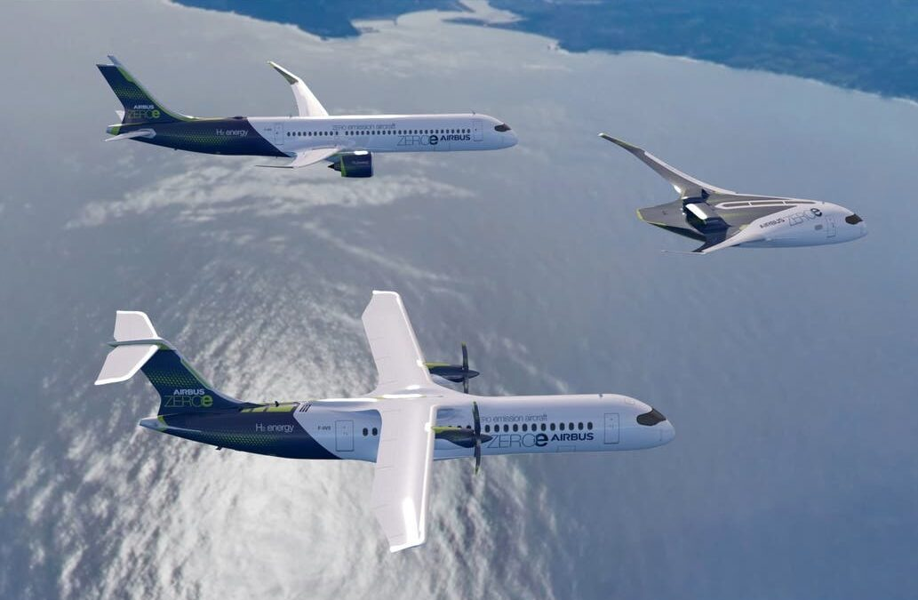 Airbus fabricará aviones con propulsión a hidrógeno para el 2035